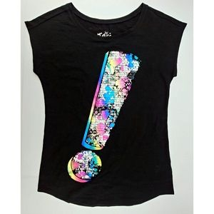 Justice NWOT Foiled Rainbow Sequin Tee